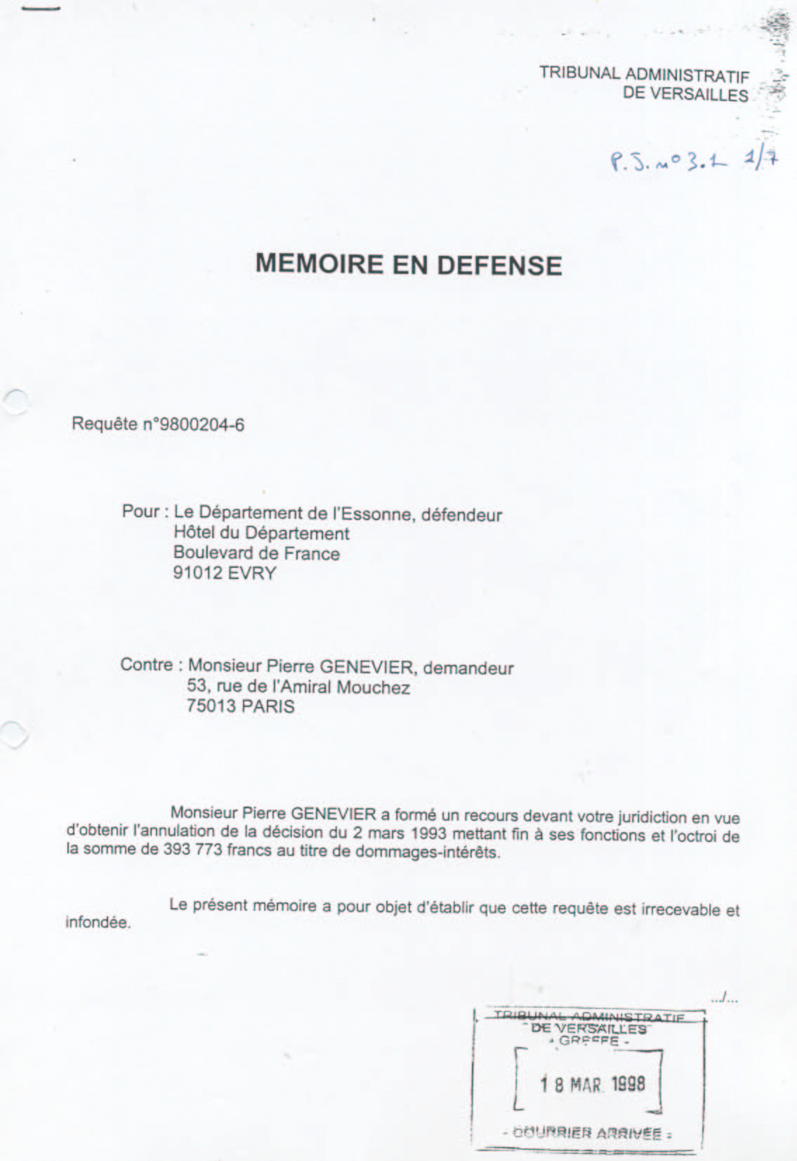 Lawsuits in France